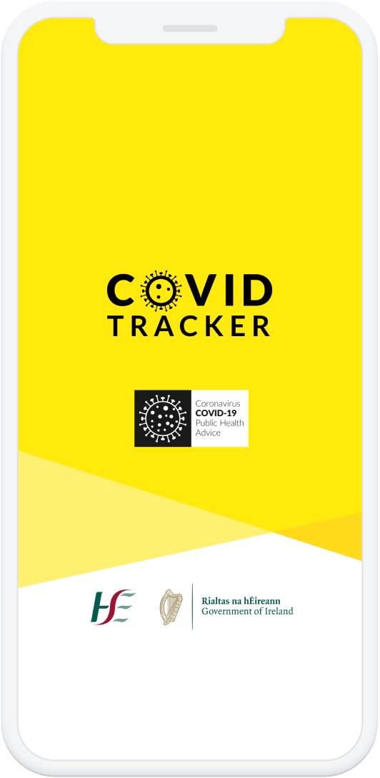 COVID Tracker mobile app home page screen